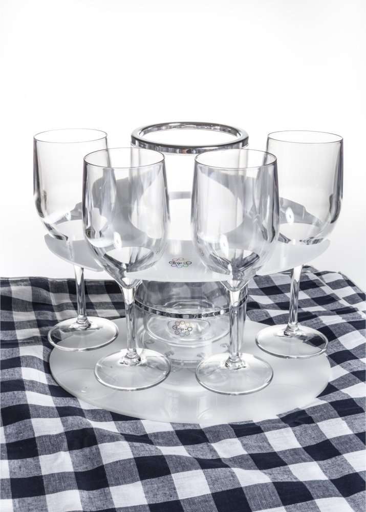 Party Grip-O with 4 Grip-O wine glasses