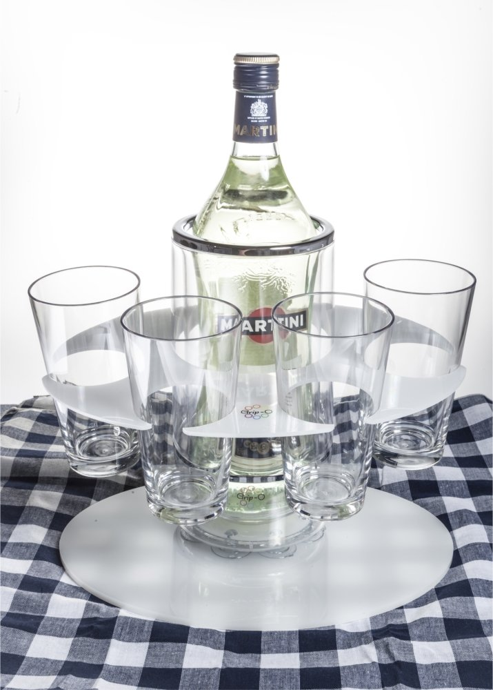 Party Grip-O with 4 Grip-O highball glasses